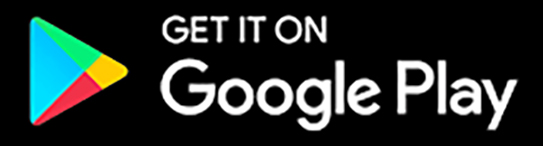 Google play button with coloured triangle and text